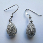 Sterling silver Pave Cubic Zirconia teardrop Earrings